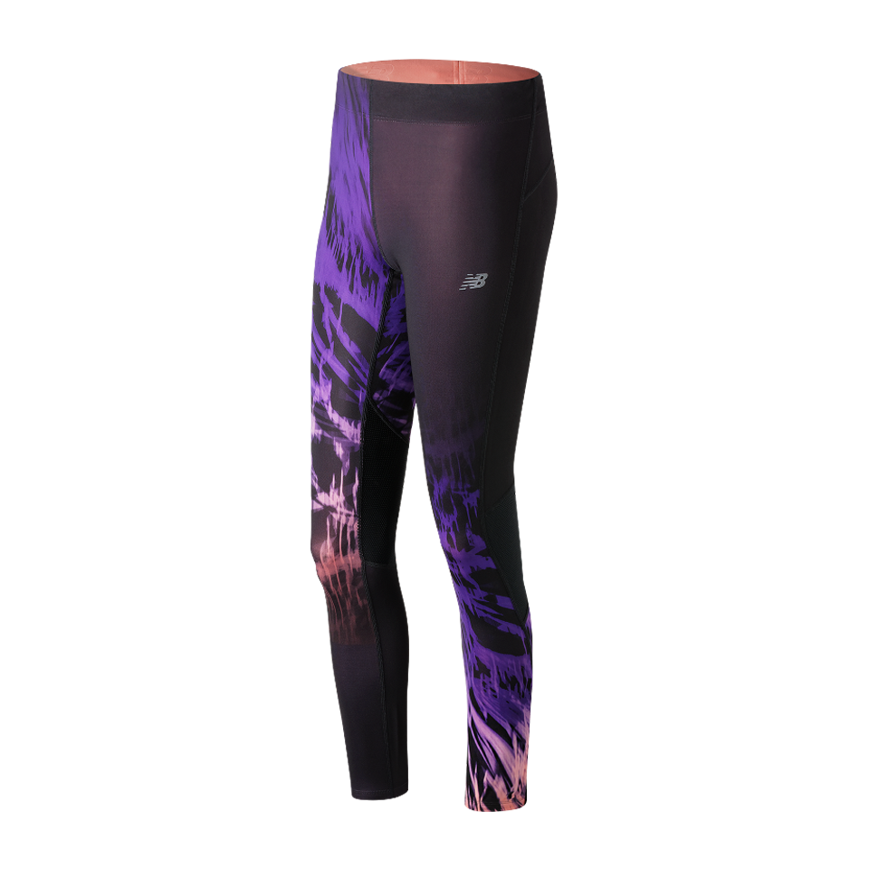 New Balance Women's Impact Premium Print Tight Electric Glow