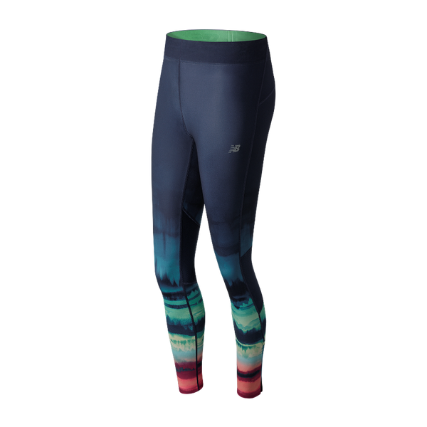 New Balance Women's Impact Premium Print Tight Placed Waves