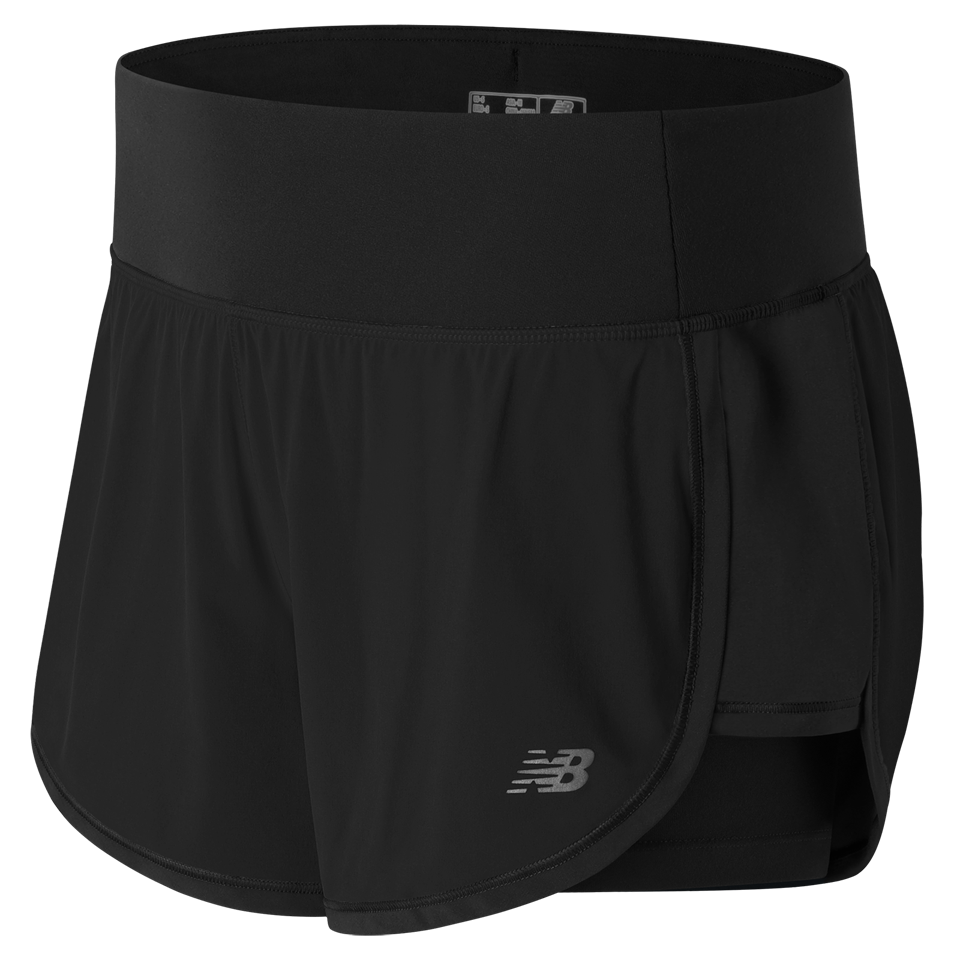 New Balance Women's Impact 2 in 1 Short Black