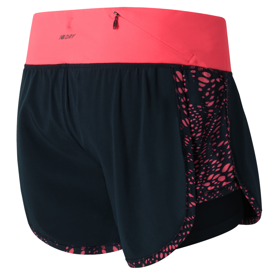 New Balance Women's Impact 2 in 1 Short Guava