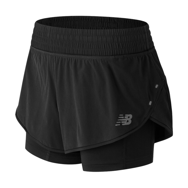 "New Balance Women's 4"" Impact Short Black"