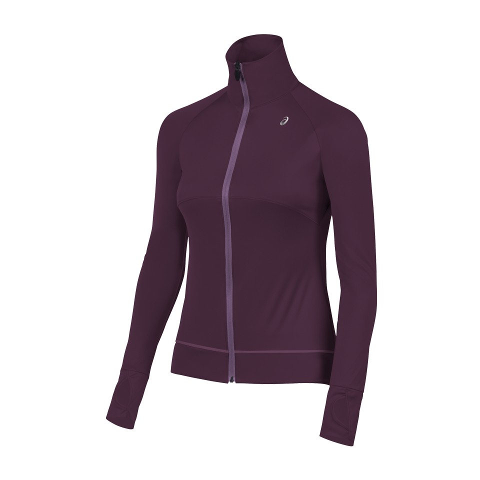 Asics Women's Full Zip Jacket Eggplant