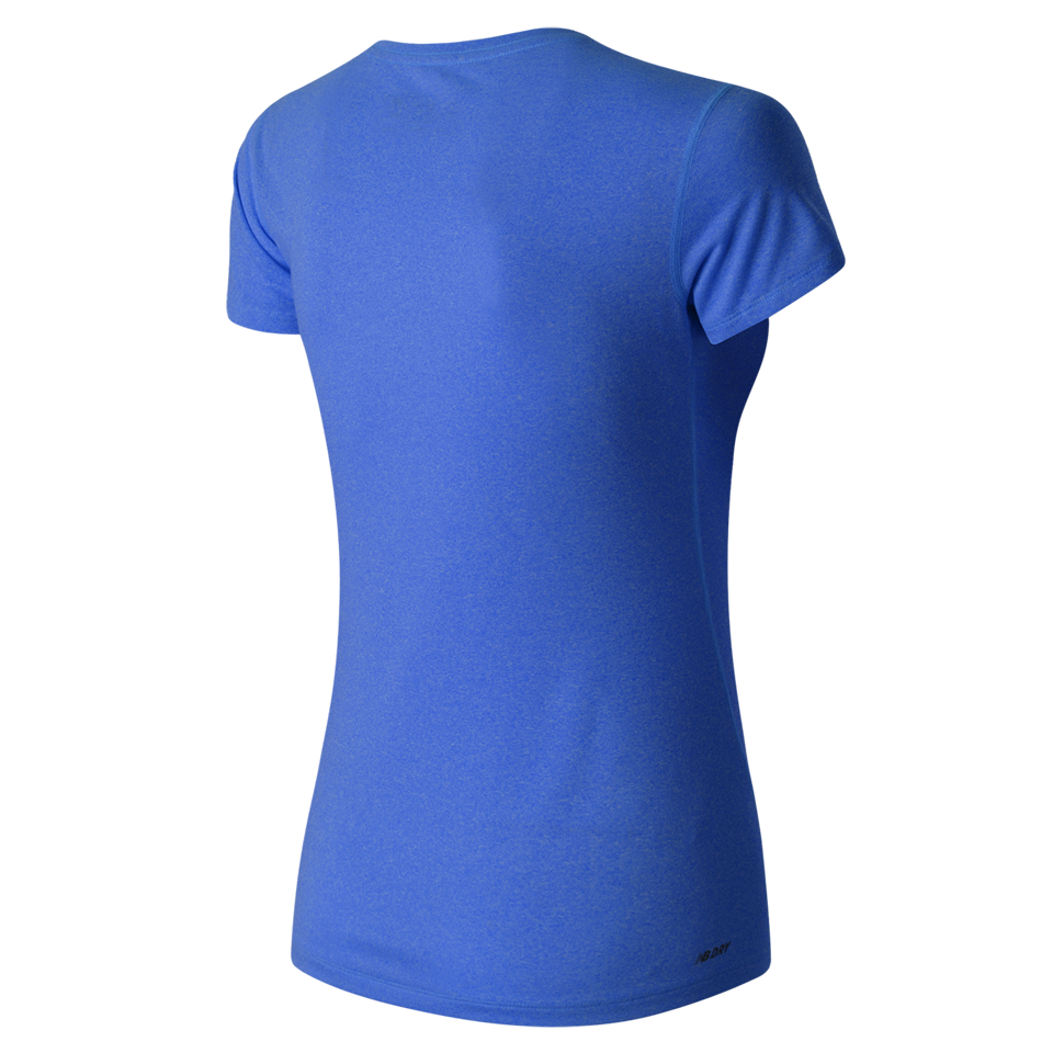 New Balance Women's Heathered Tee Majestic Blue Heather