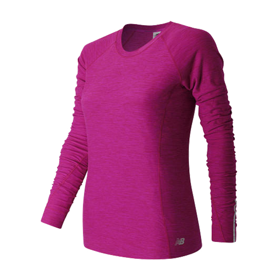New Balance Women's In Transit Long Sleeve Fusion Heather