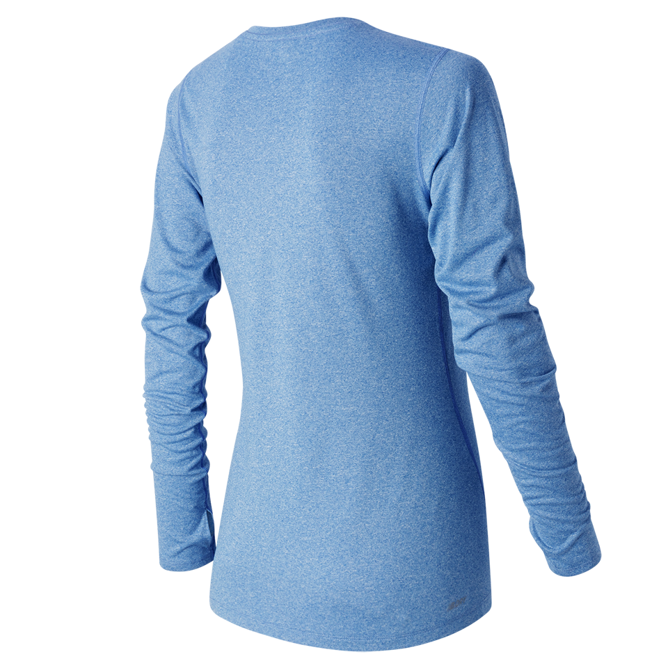 New Balance Women's Heathered Longsleeve Majestic Blue Heather