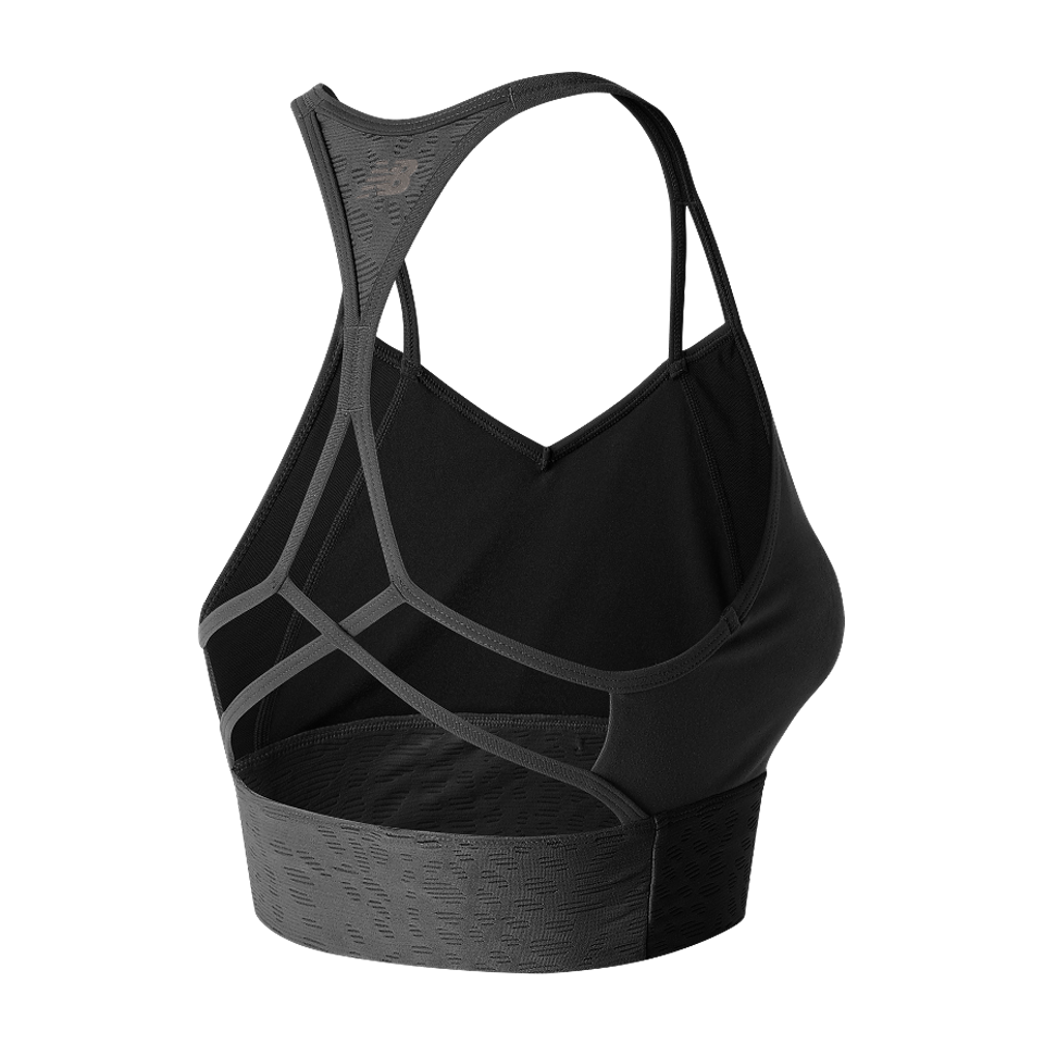 New Balance Women's Grove Crop Bra Top Black