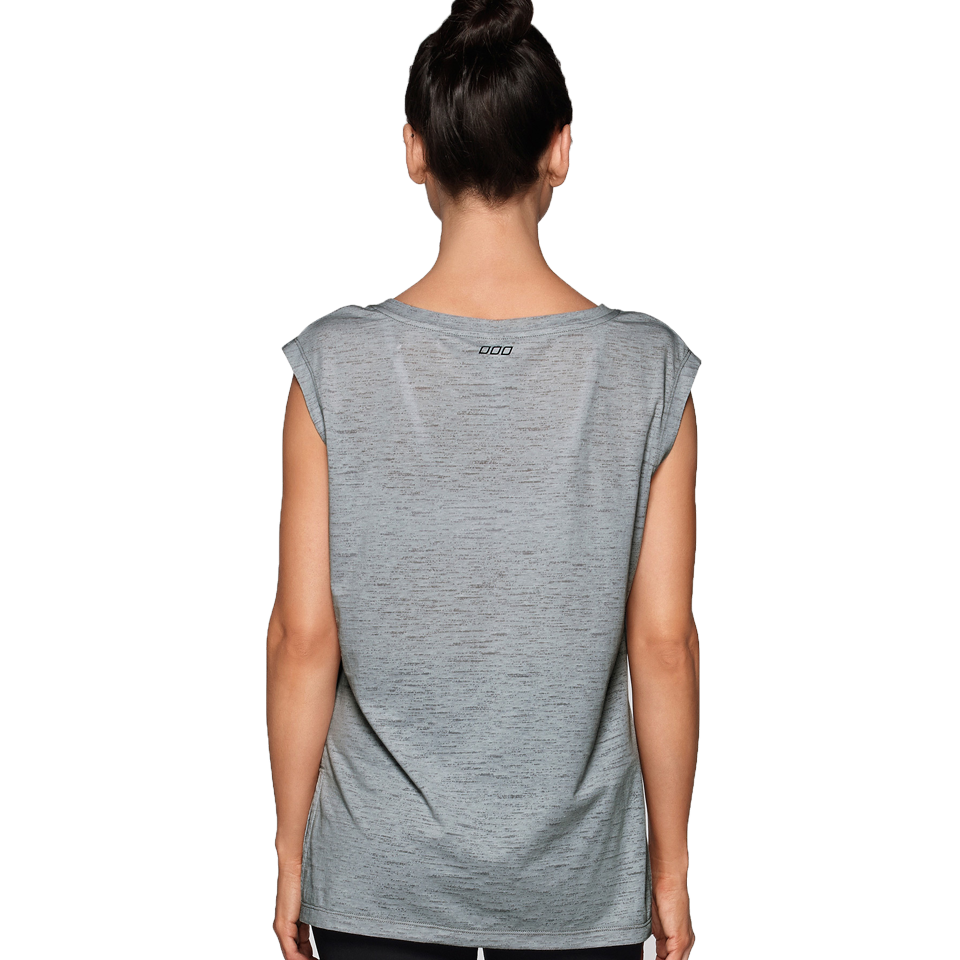 Lorna Jane Women's Don't Tell My Trainer Tee Grey Marl