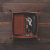Standard Leather Valet Tray - Whiskey