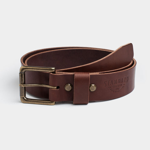 Standard Leather Belt - Dark Brown