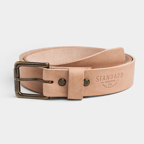 Standard Leather Belt - Natural