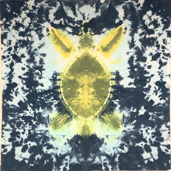 Honu - Tie Dyed Specialty Art Piece - Hand Dyed Fabric