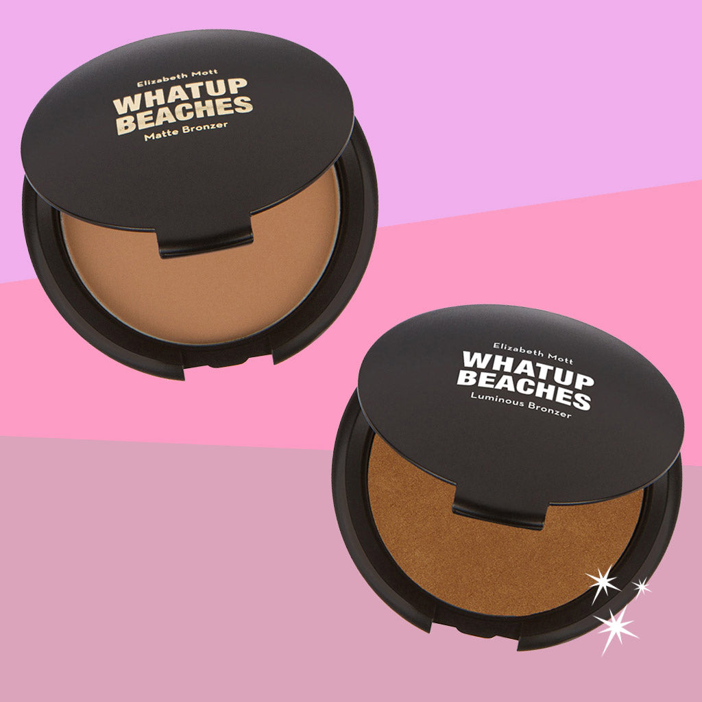 Elizabeth Mott Whatup Beaches Matte Bronzer and Luminous Bronzer