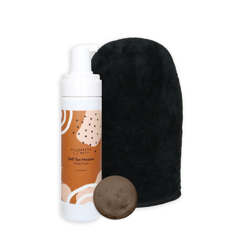 Elizabeth Mott dark self-tanning mousse with mitt
