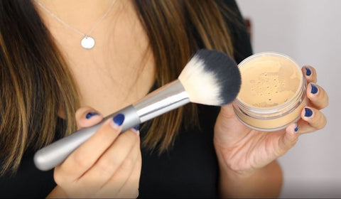 How To Use Set For Life Translucent Setting Powder With A Big Fluffy Brush
