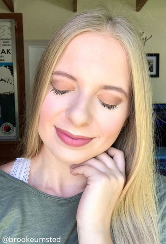 Elizabeth Mott natural smokey eyeshadow look by brookeumsted