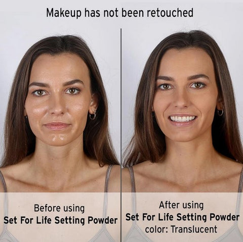 Set For Life Setting Powder On Model Before And After Pictures