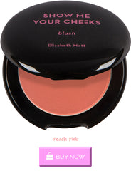 Peachy pink blush