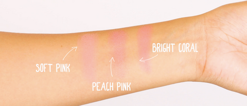 Elizabeth Mott Blush Swatches