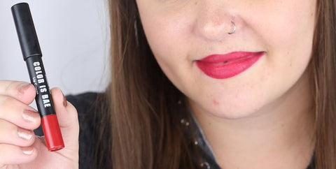 Color is Bae Lip Crayon in Cherry by Elizabeth Mott