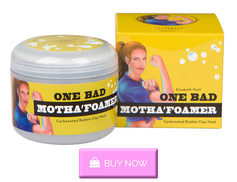 Buy Elizabeth Mott's carbonated foaming clay mask to help with maskne