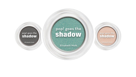 pop! Goes the shadow in shades gunmetal and mermaid teal eyeshadow