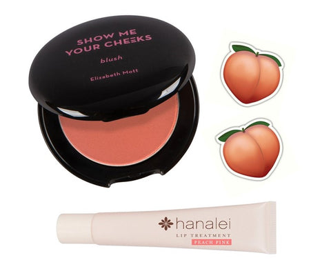 Elizabeth Mott Peach Pink Blush and Hanalei Company Lip Treatment Peach Pink
