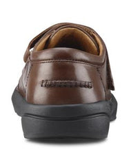 Frank, Men's Dress Shoe with Strap Closure in Black or Brown