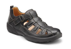 Fisherman, Men's Casual Full Support Sandal in Black or Chestnut