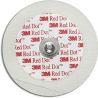 3M Red Dot™ Pediatric Monitoring Electrodes with Micropore™ Tape Backing 4-2/5cm D, Flexible