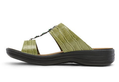 Sharon Sandals in Brown, Green