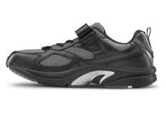 Endurance, Men's Lightweight Leather Trainer with Strap Closure in Black or White