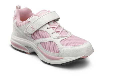 Victory, Women's Dual Closure Athletic Shoe in Pink or White