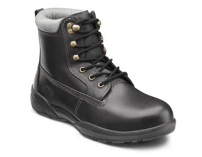 Protector Boots, Men's Steel-Toe Work Boot in Black