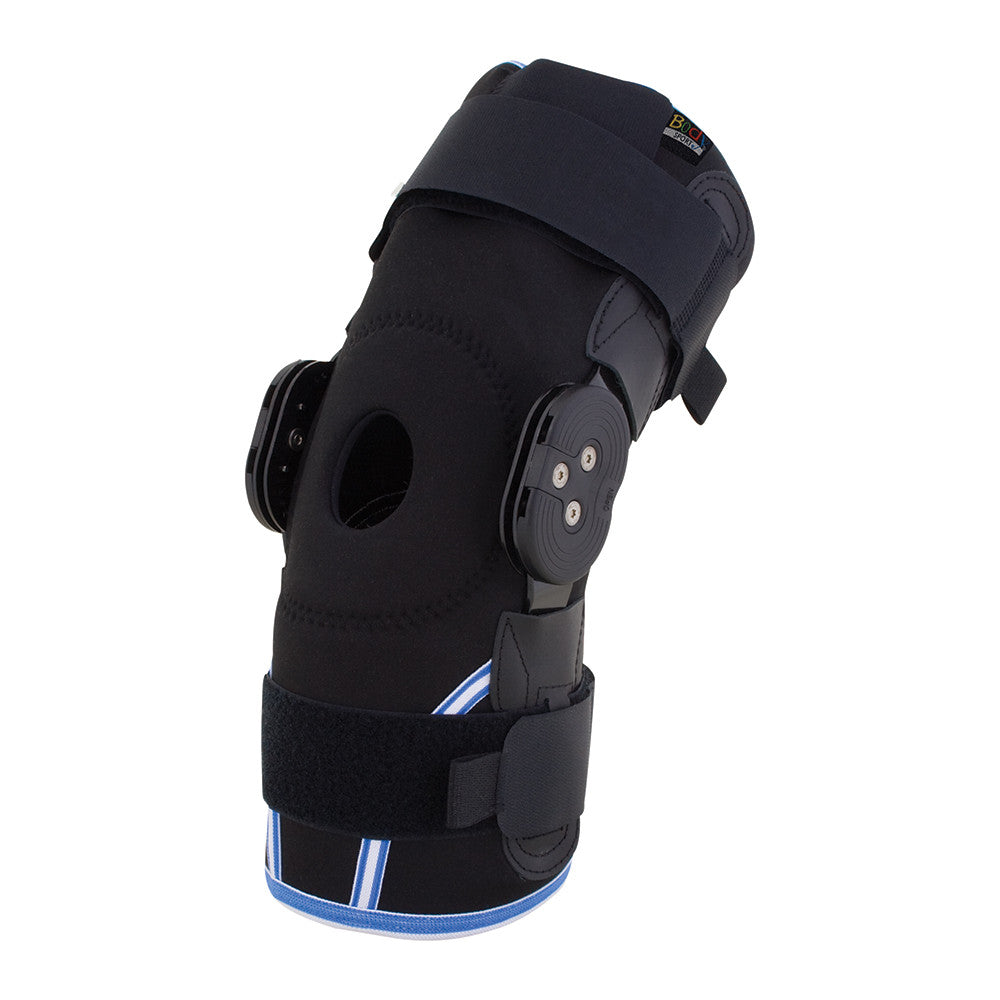 Body Sport Compression Airmesh Knee Brace with Range of Motion Hinges