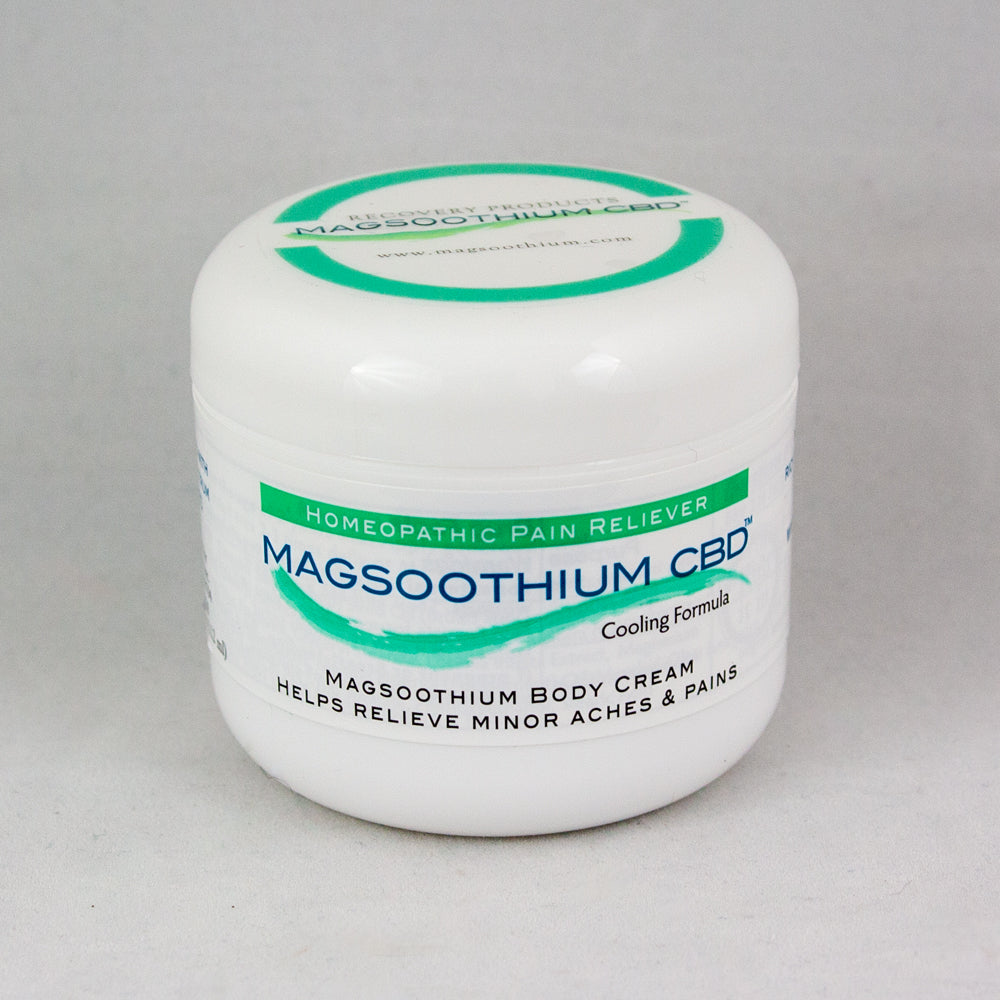 Magsoothium 4oz Magnesium and Arnica Cooling Cream infused with CBD/Hemp Oil