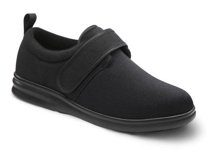 Carter, Washable Men's Therapeutic Extra Depth Shoe, Black
