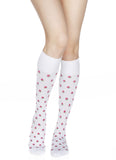 Women's Rejuva® Rose patterned Knee High Support Hose