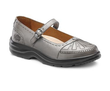 Paradise, Women's richly colored dress or casual leather shoe in Black, Pewter, or Saddle tan
