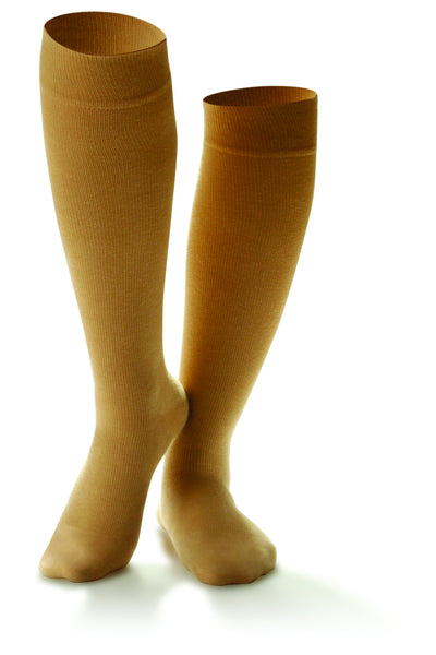 Women's Cotton Casual Trouser Support Socks in Black, White & Wheat