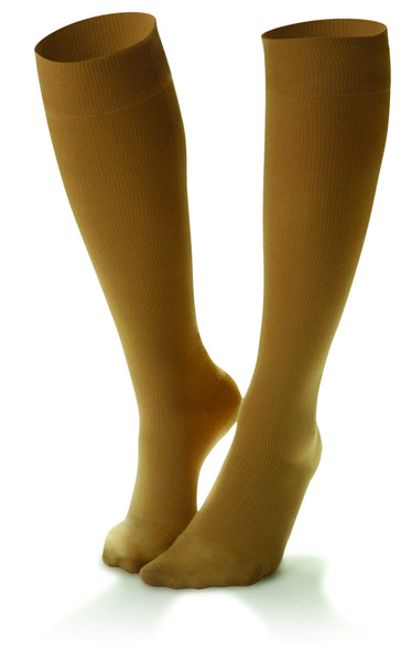 Women's Nylon Casual Trouser Support Socks in Black, White, Navy & Wheat