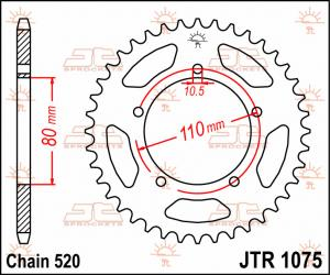JTR 1075 Rear Sprocket