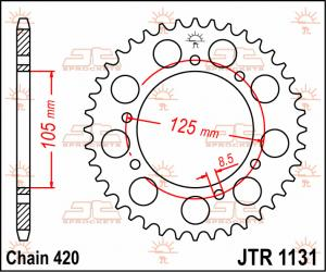 JTR 1131 Rear Sprocket