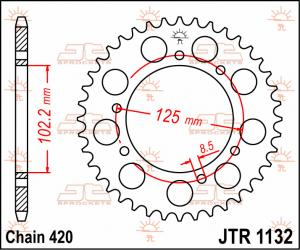 JTR 1132 Rear Sprocket