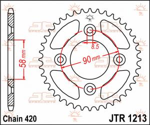 JTR 1213 Rear Sprocket