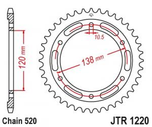 JTR 1220 Rear Sprocket