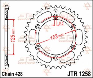 JTR 1258 Rear Sprocket
