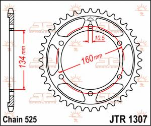 JTR 1307 Rear Sprocket