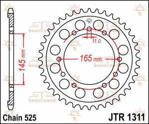 JTR 1311 Rear Sprocket