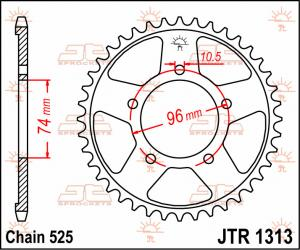 JTR 1313 Rear Sprocket