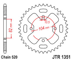 JTR 1351 Rear Sprocket